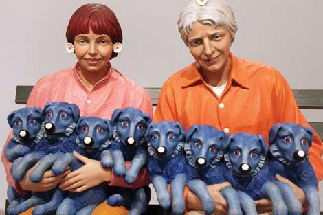 Jeff Koons, String of Puppies 1988. © Jeff Koons