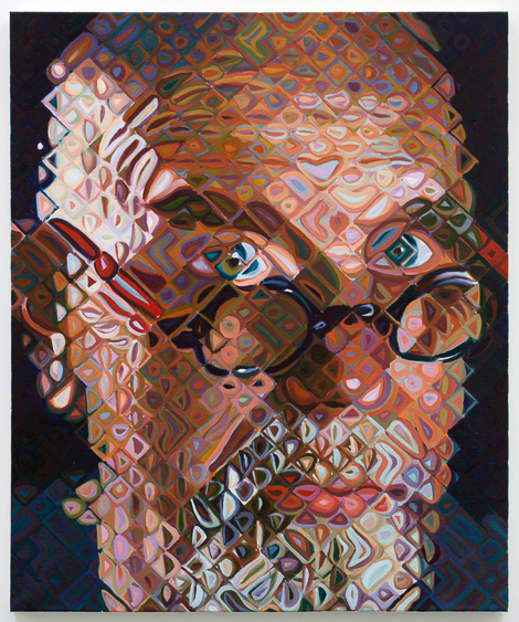 stephen j goldberg los angeles lawyer chuck close self portrait II 2011 oil on canvas