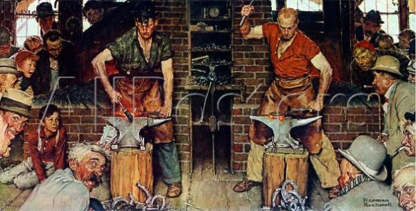 stephen j goldberg los angeles lawyer norman rockwell blacksmiths boy heel and toe 1940