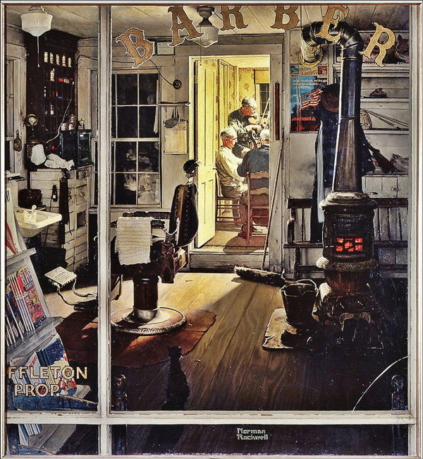 stephen j goldberg los angeles lawyer norman rockwell shuffleton's barbershop 1950