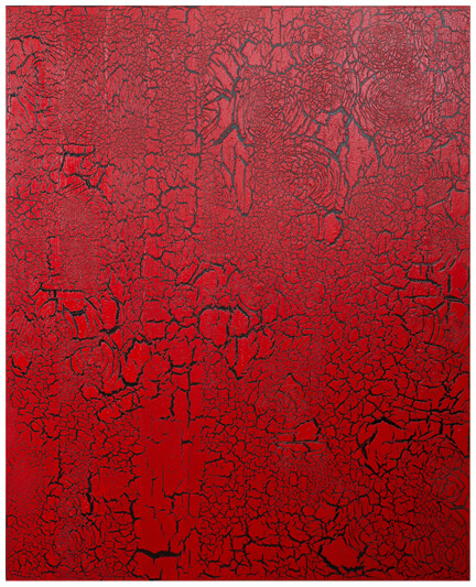 Ed Moses' famous crackle paintings