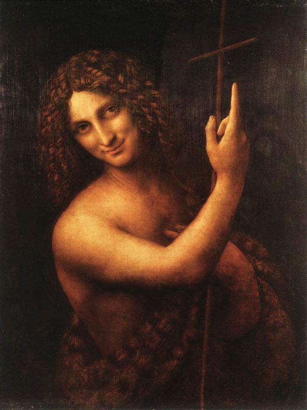 authentic artwork stephen j goldberg art article image leonardo da vinci st john the baptist