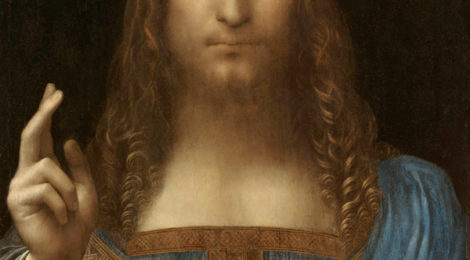 Leonardo da Vinci Salvator Mundi c.1500 oil on walnut 45.4 × 65.6 cm 470x260