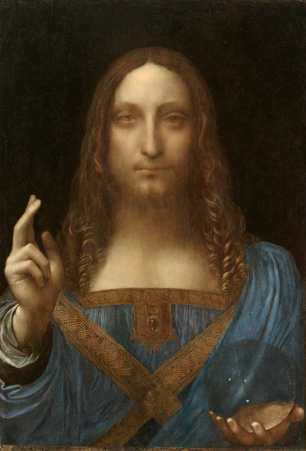 russian oligarch jolts the art world Leonardo da Vinci Salvator Mundi c.1500 oil on walnut 45.4 × 65.6 cm