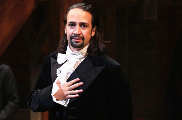 trump gives arts the hook stephen goldberg Lin Manuel Miranda hamilton on stage 2015 billboard
