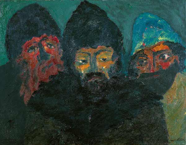emil nolde three russians 1914
