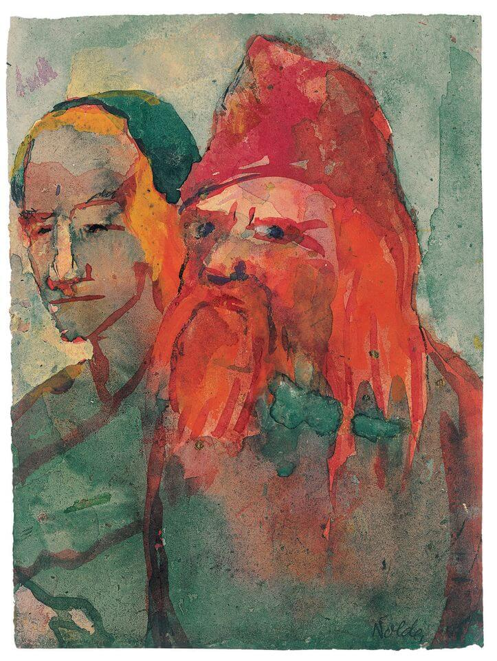 nmil nolde old peasant couple 1942