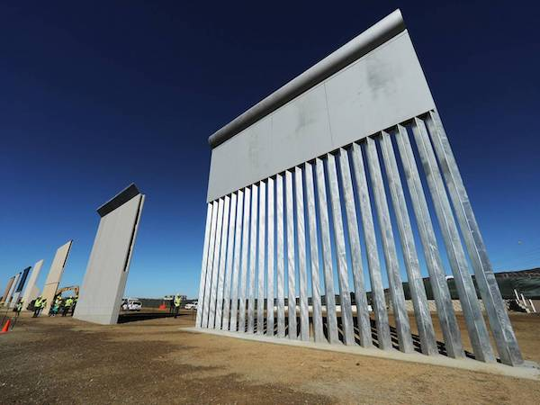 prototypes for trumps us Mexico border wall