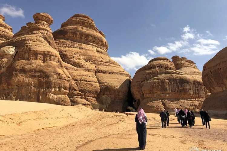 Madain Saleh antiquities site AlUla Saudi Arabia