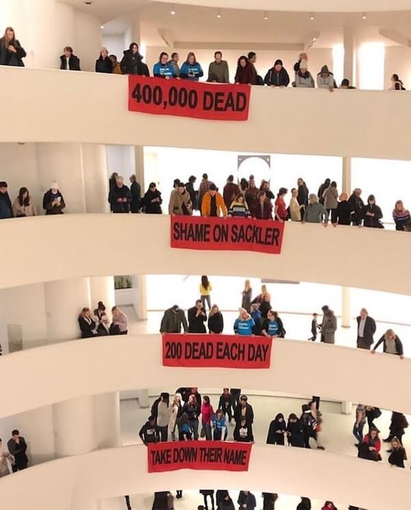 Nan Goldin protest